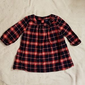 BABY GAP Infant Plaid Dress 3-6 months